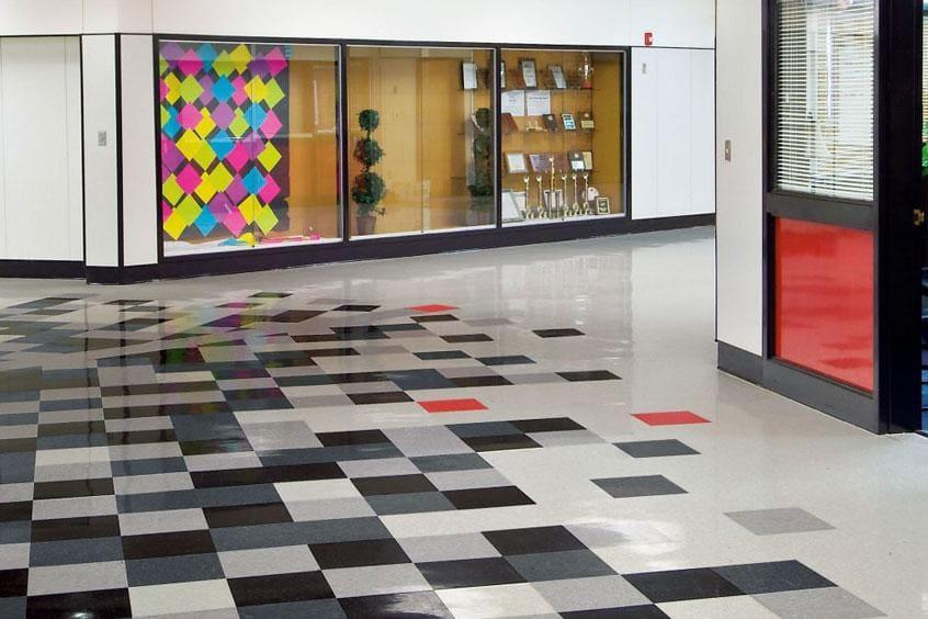 Vinyl Composite Tile Floor - Image credit - floorcity