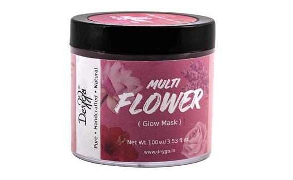 Multi-Flower glow face mask gel