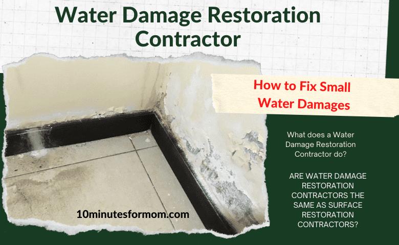 Water Damage Restoration Contractor