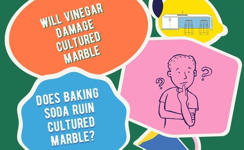 Vinegar and baking soda Damage Cultured Marble - How to Clean Cultured Marble Countertops
