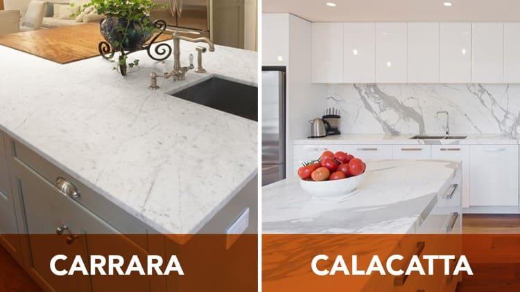 Carrara & Calacatta Marble Different