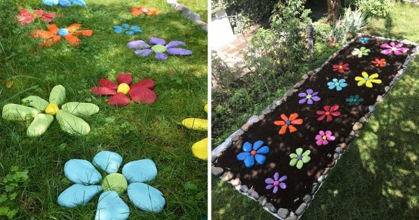 Painted Rock Flower Garden Ideas