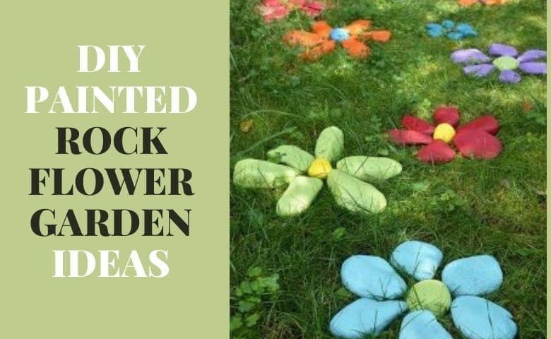 DIY Painted Rock Flower Garden Ideas