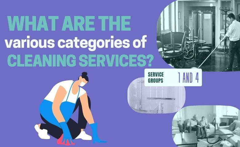 What are the various categories of cleaning services