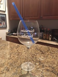 Beth's favorite wine glass