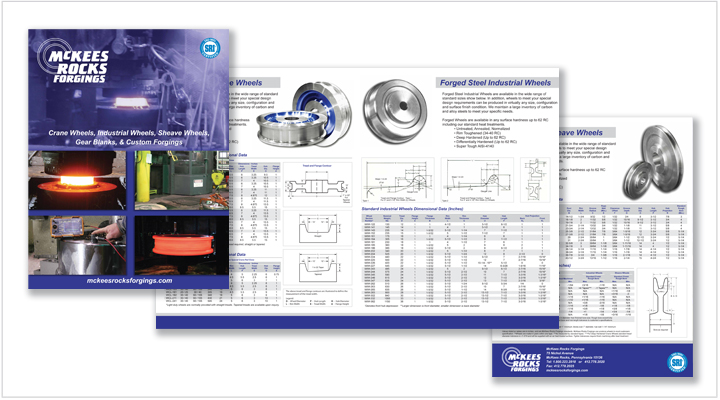 Media Frogg folded brochure example