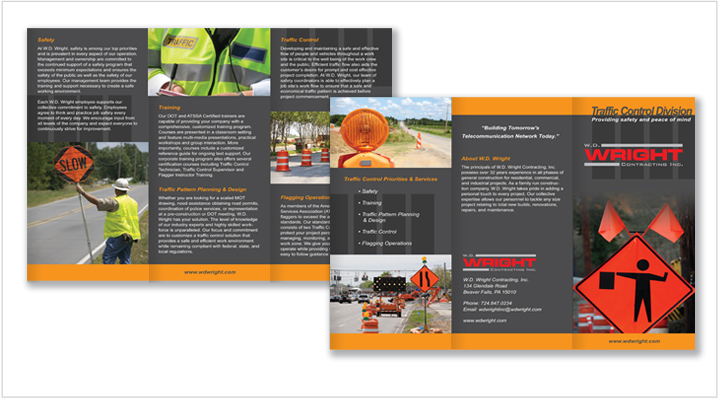 Media Frogg trifold brochure example