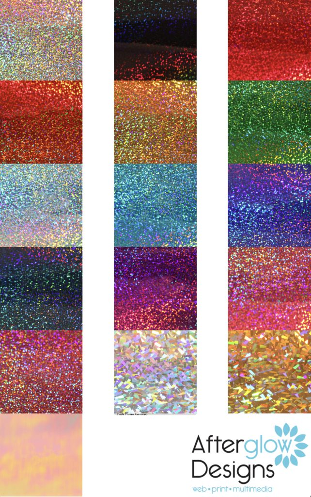 Siser Holographic Color Chart