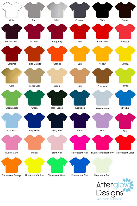Siser Easy Weed Color Chart