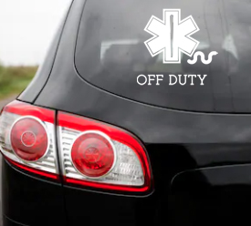 Off Duty Sticker