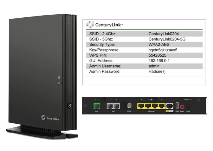 CenturyLink ActionTec C2300A router modem