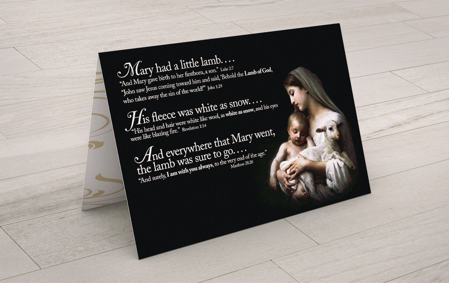 Mary Had a Little Lamb Christmas Card