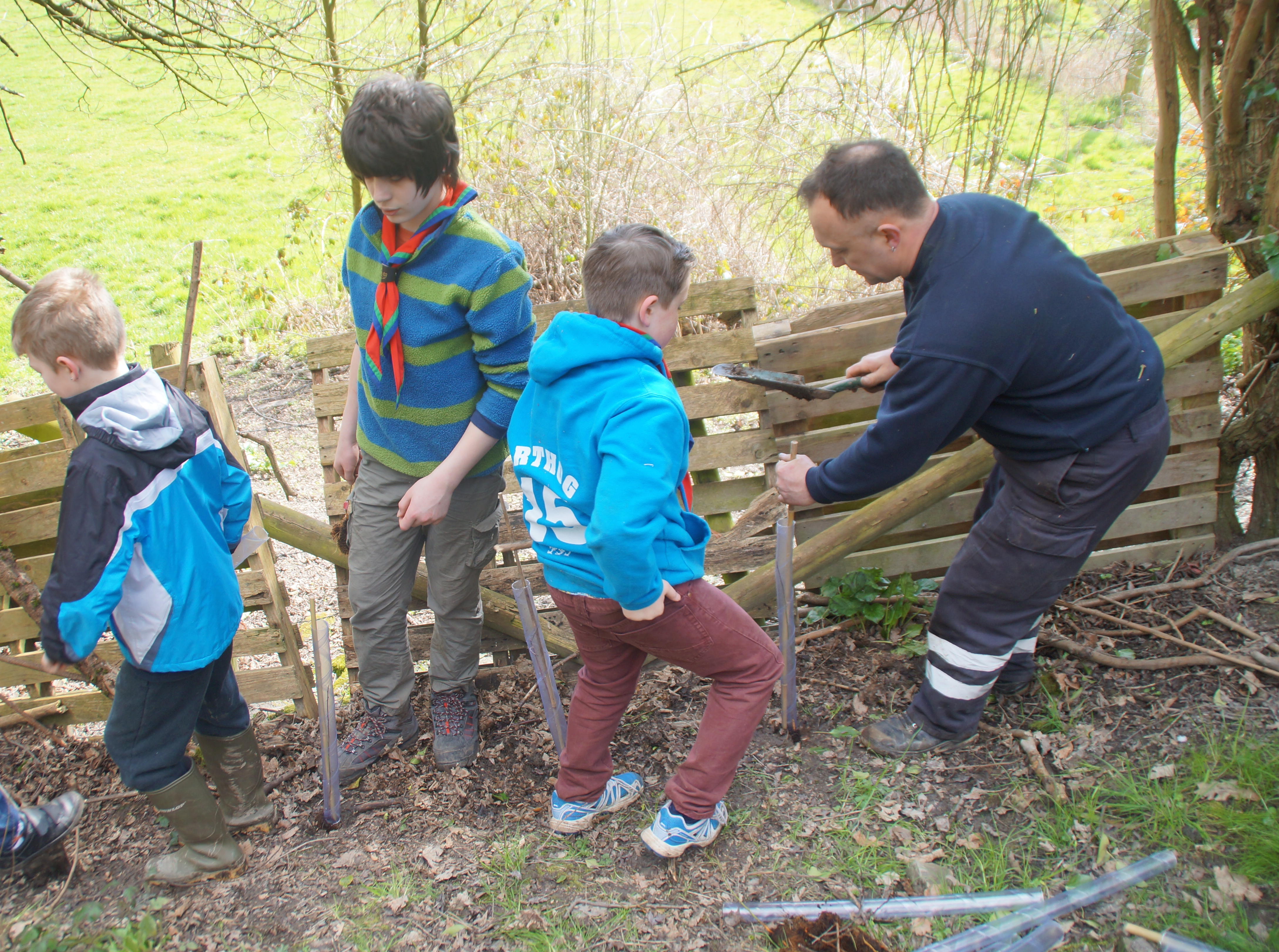 1st Broseley Scouts Plant Trees