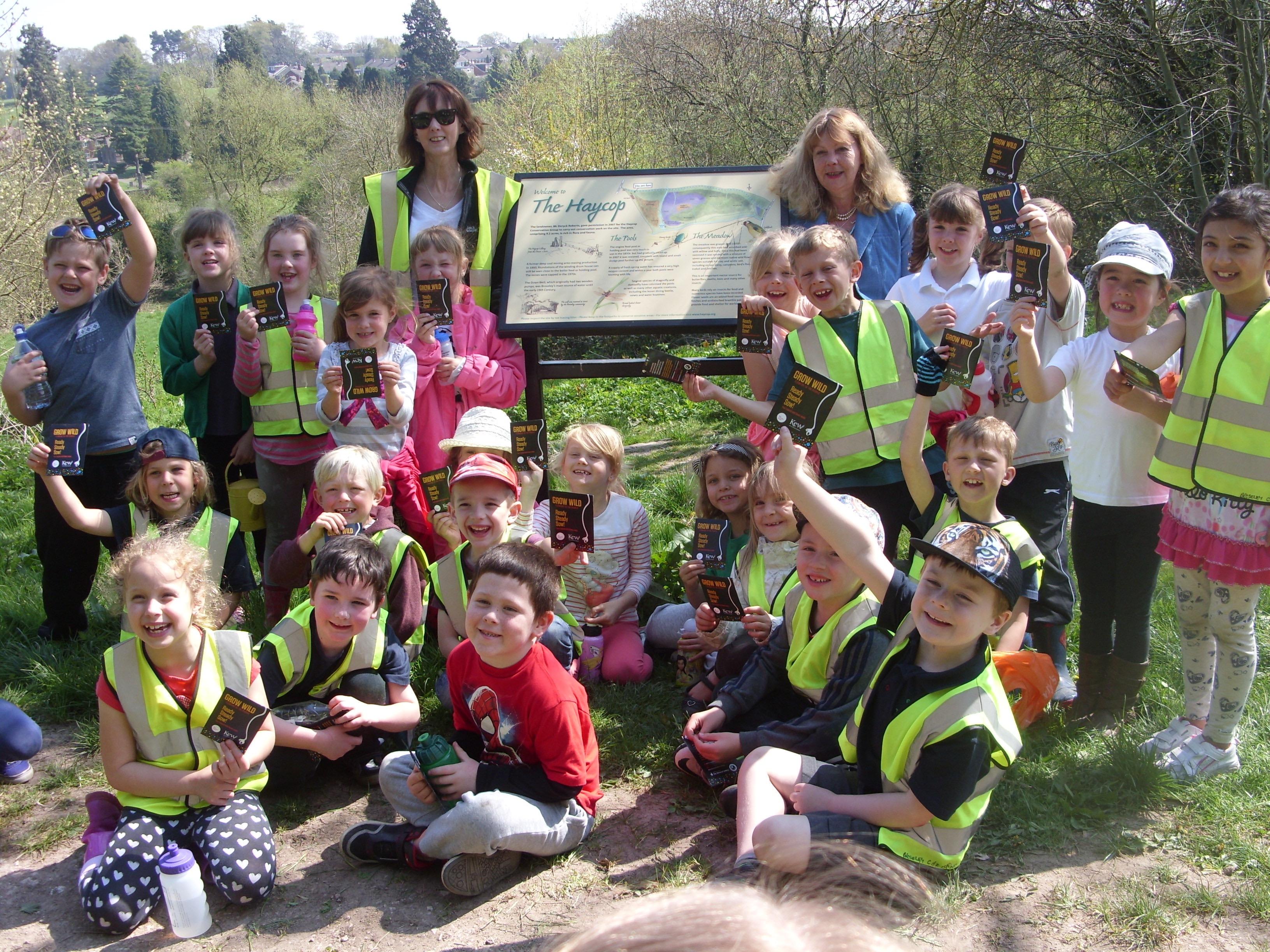 Broseley CE Pupils Prepare to Plant Grow Wild Flower Seeds
