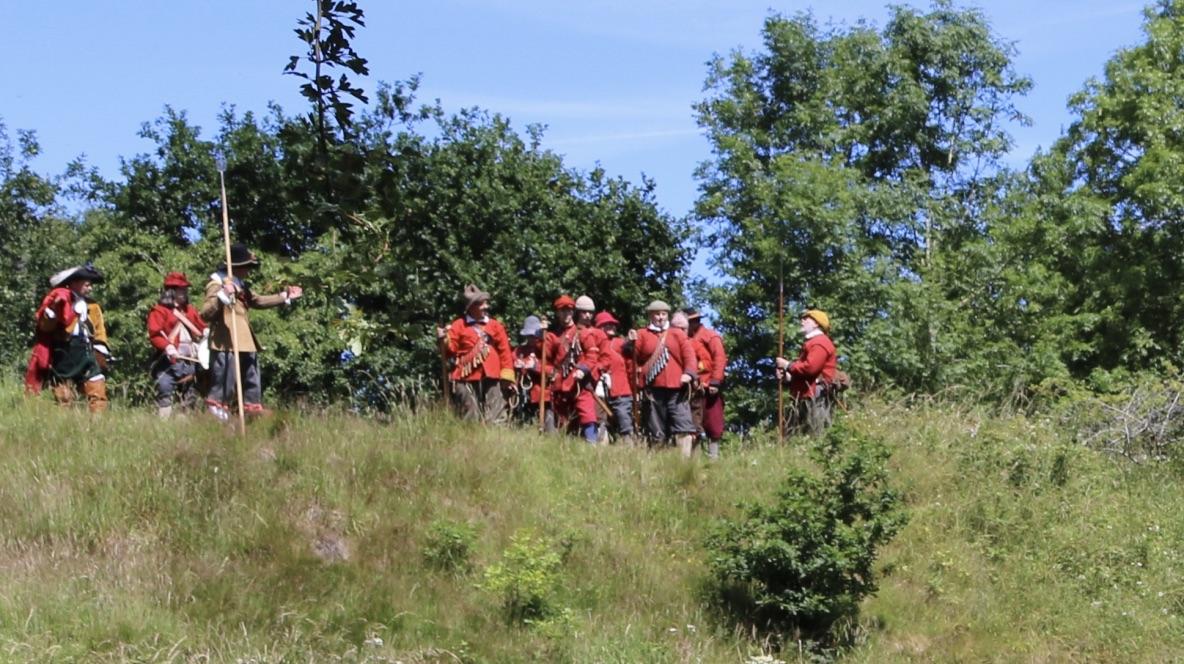 Col. Devereux's Regiment prepare for drill