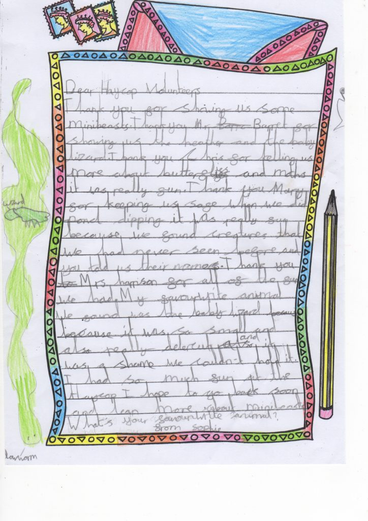 Letter from Sophie Y2