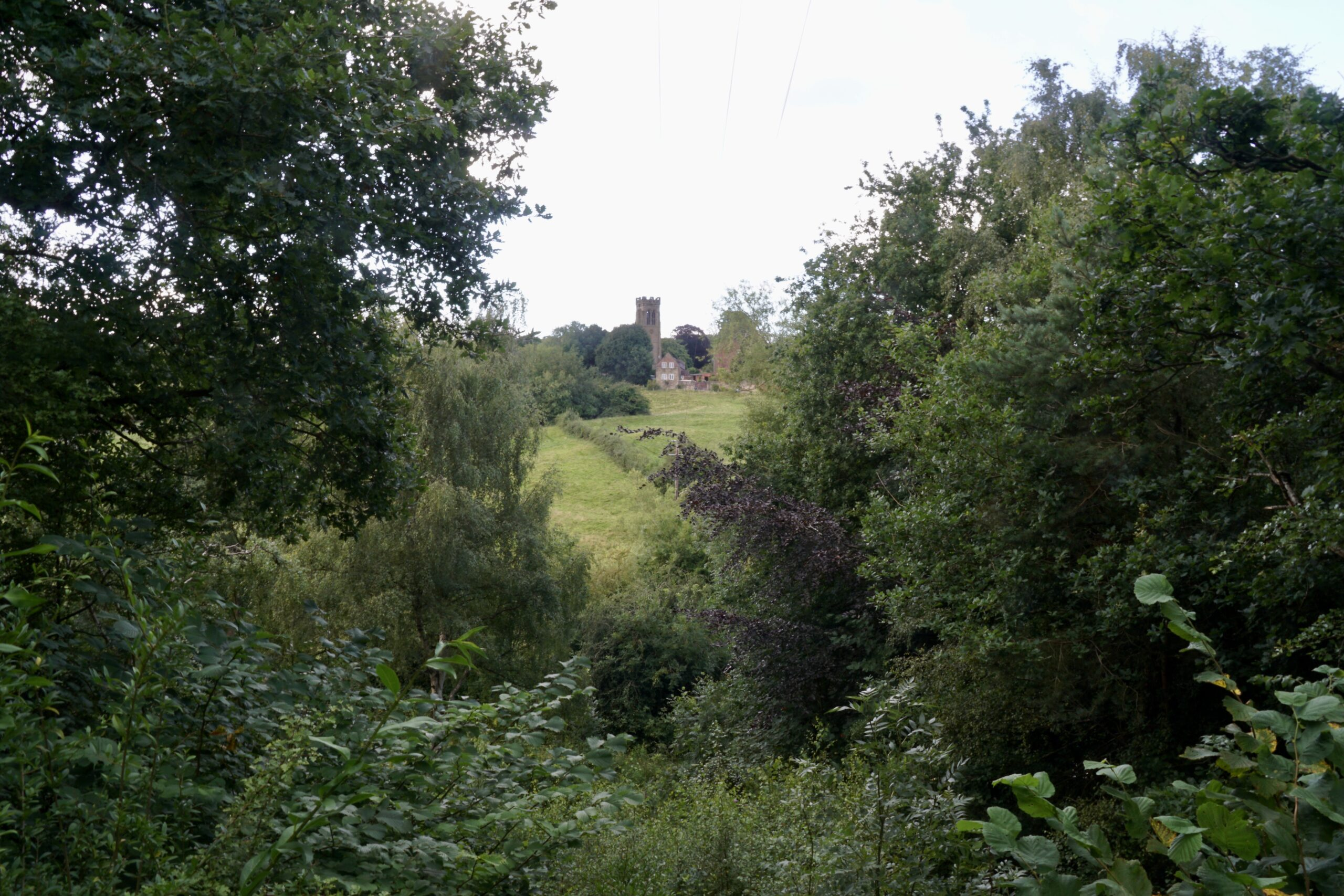 A view towards all Saints church - July