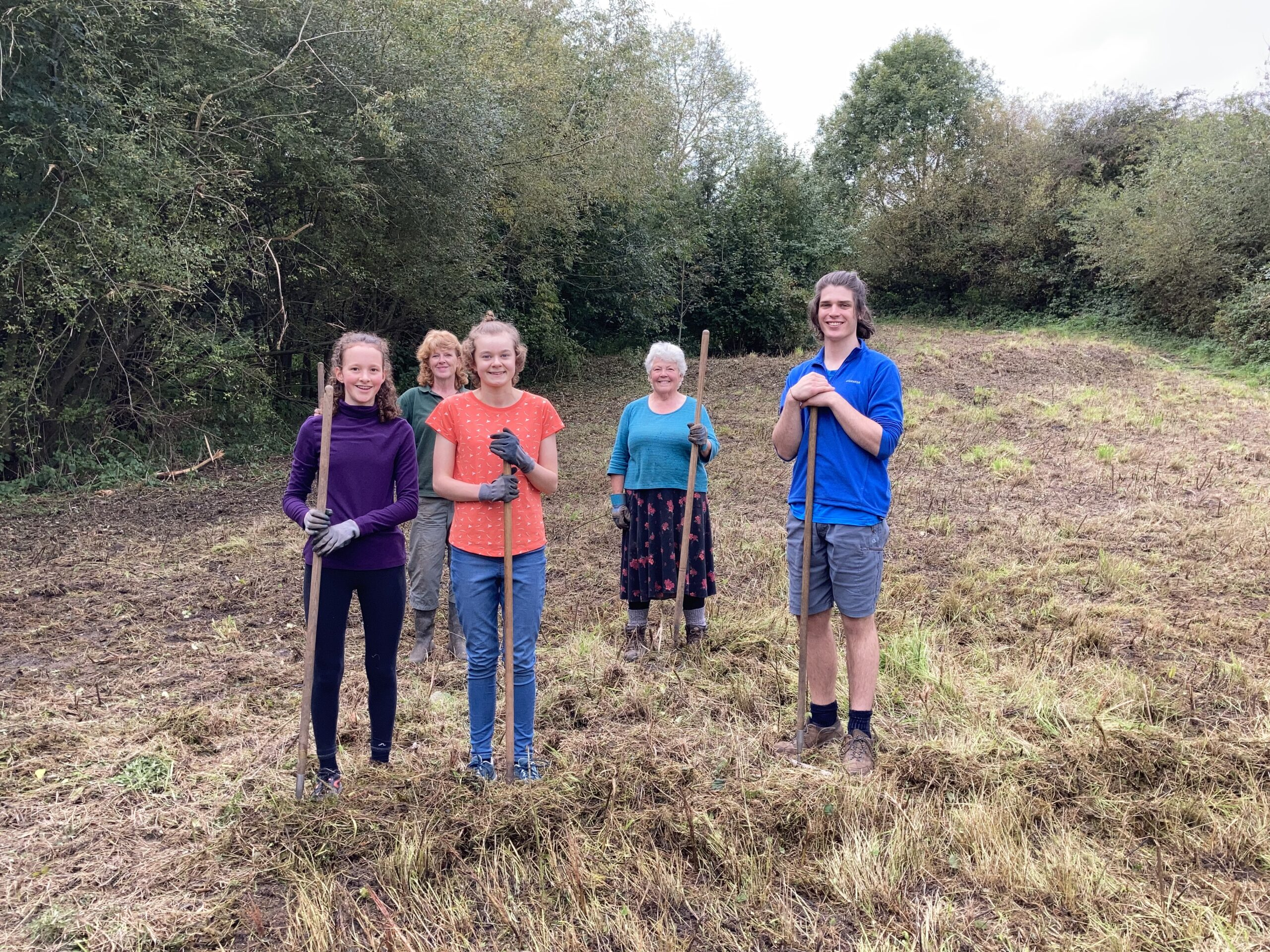 Volunteers Clearing the Meadow Cut - Wednesday 7th October