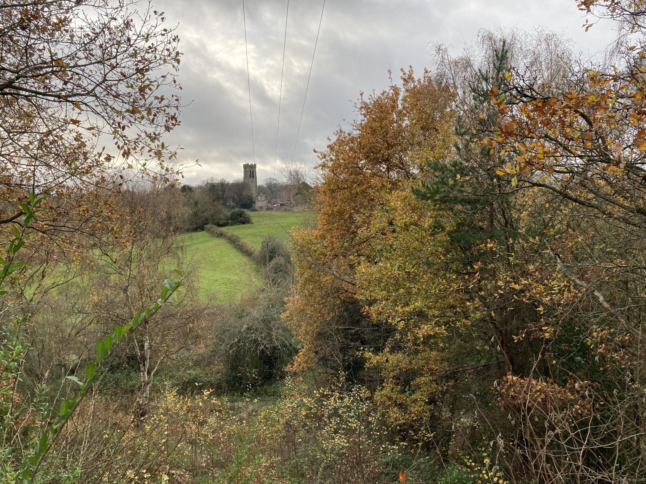 All Saints Church from the Haycop - November