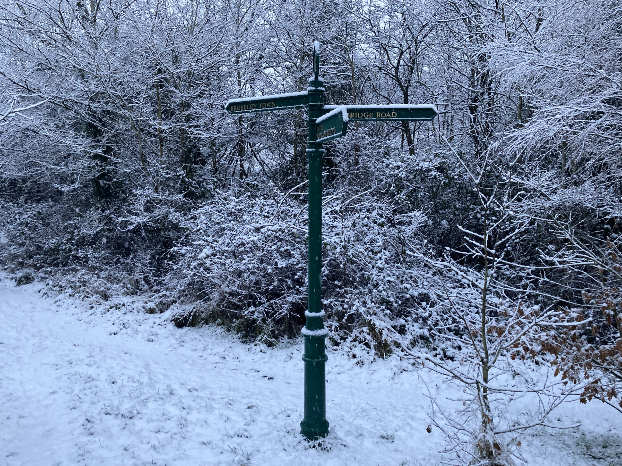 Signpost on the Bridleway