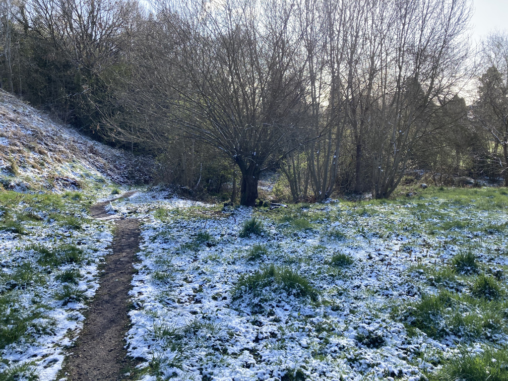 Snow at the bottom of the Meadow