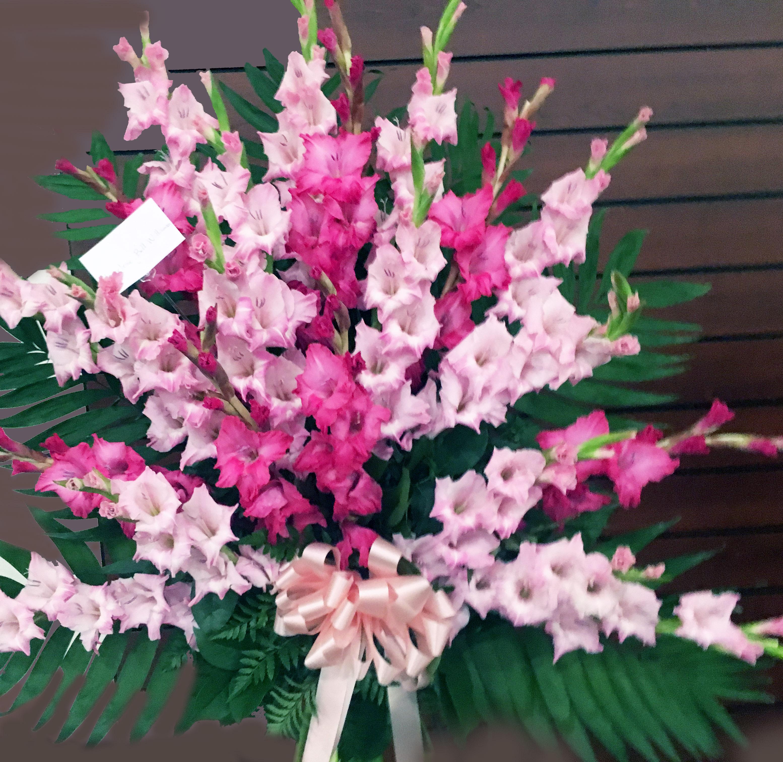 Pink Gladiola Vase