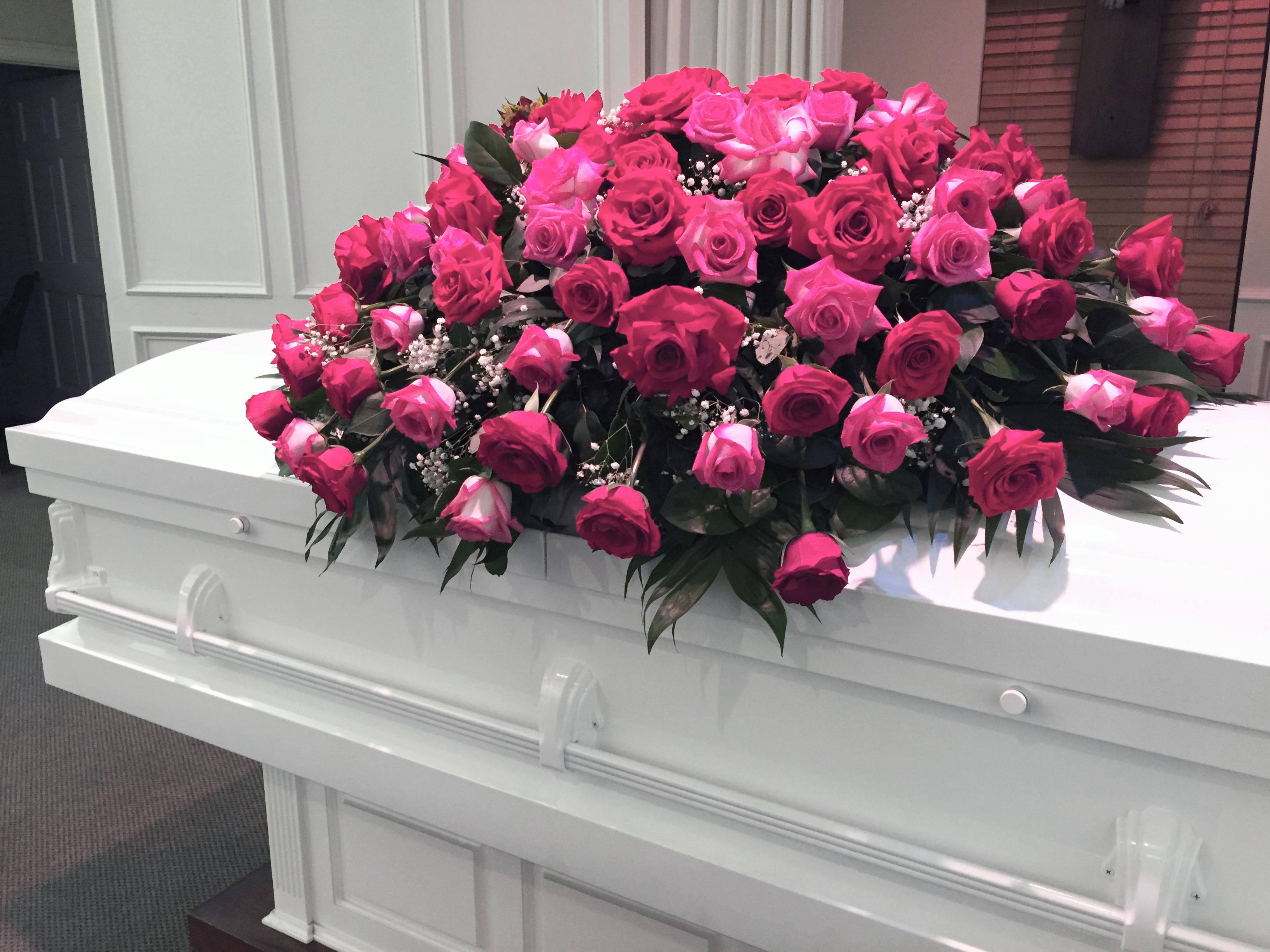 Pink Rose Casket