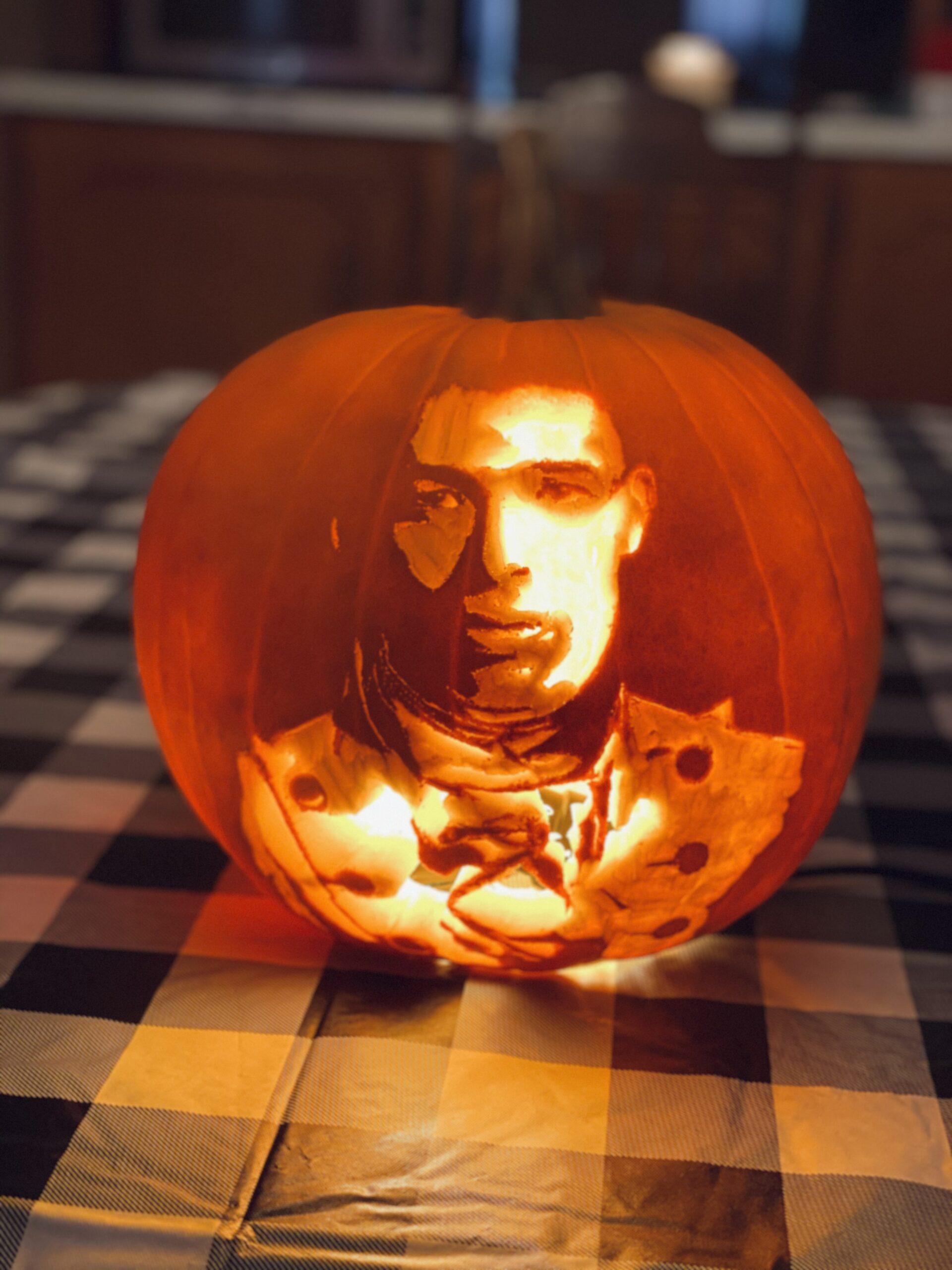 Anthony Ramos Pumpkin Carving