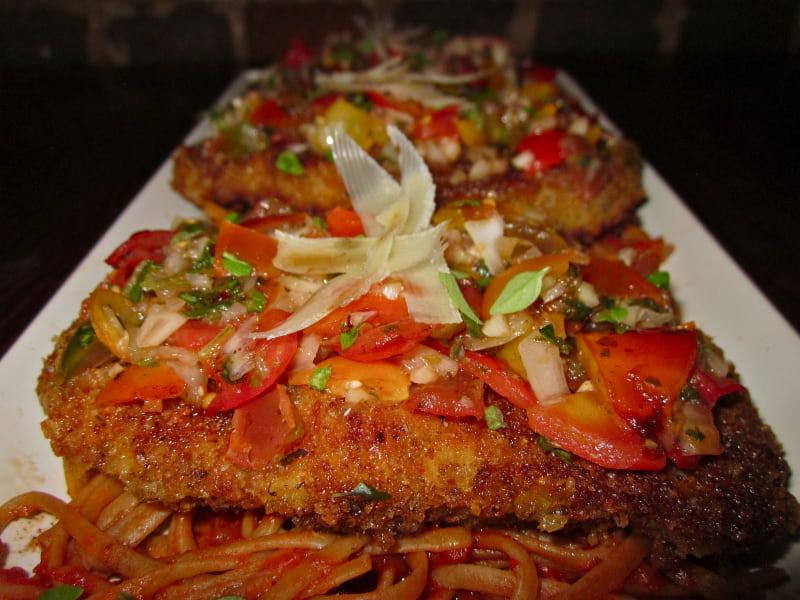 Roxanne's Chicken Cutlet with Bruschetta Recipe