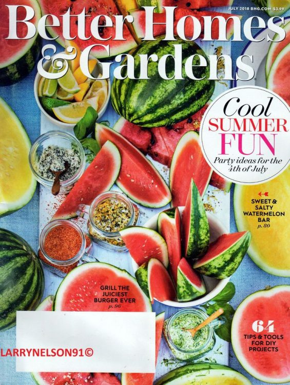 Cover of Better Homes & Gardens July 2018