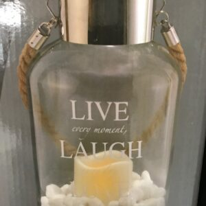 Live, Laugh, Love Glass Canister by ShopDePalma