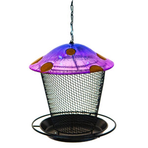 Ultimate Innovations Blue Mushroom Bird Feeder