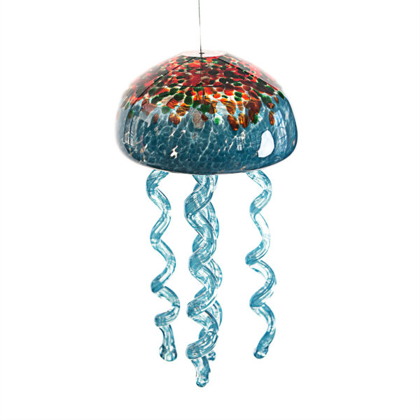 Jelly Fish Wind Chime Blue