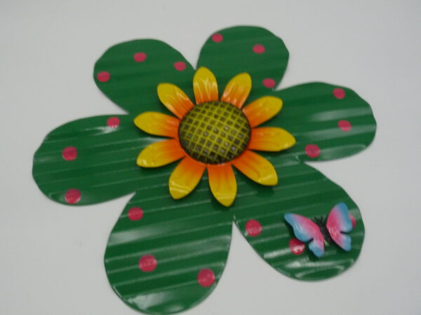Set of 2 Wall and Fence Flowers by Ultimate Innovations