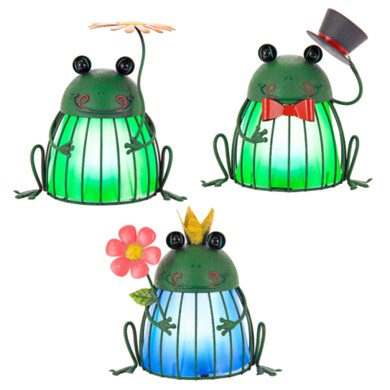 Solar Metal Garden Frogs by Ultimate Innovations