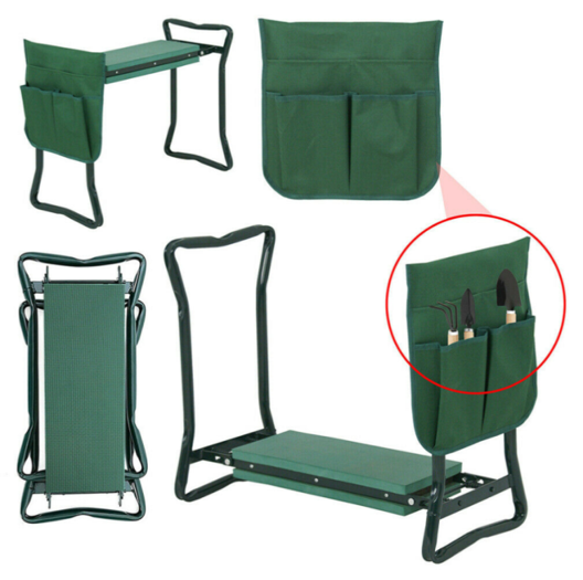 Folding Garden Kneeling Bench with Pocket by Ultimate Innovations
