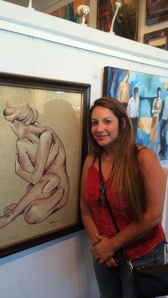 "Marcy Ann Villafana9 Figurative Artist ) with "" SHY"""
