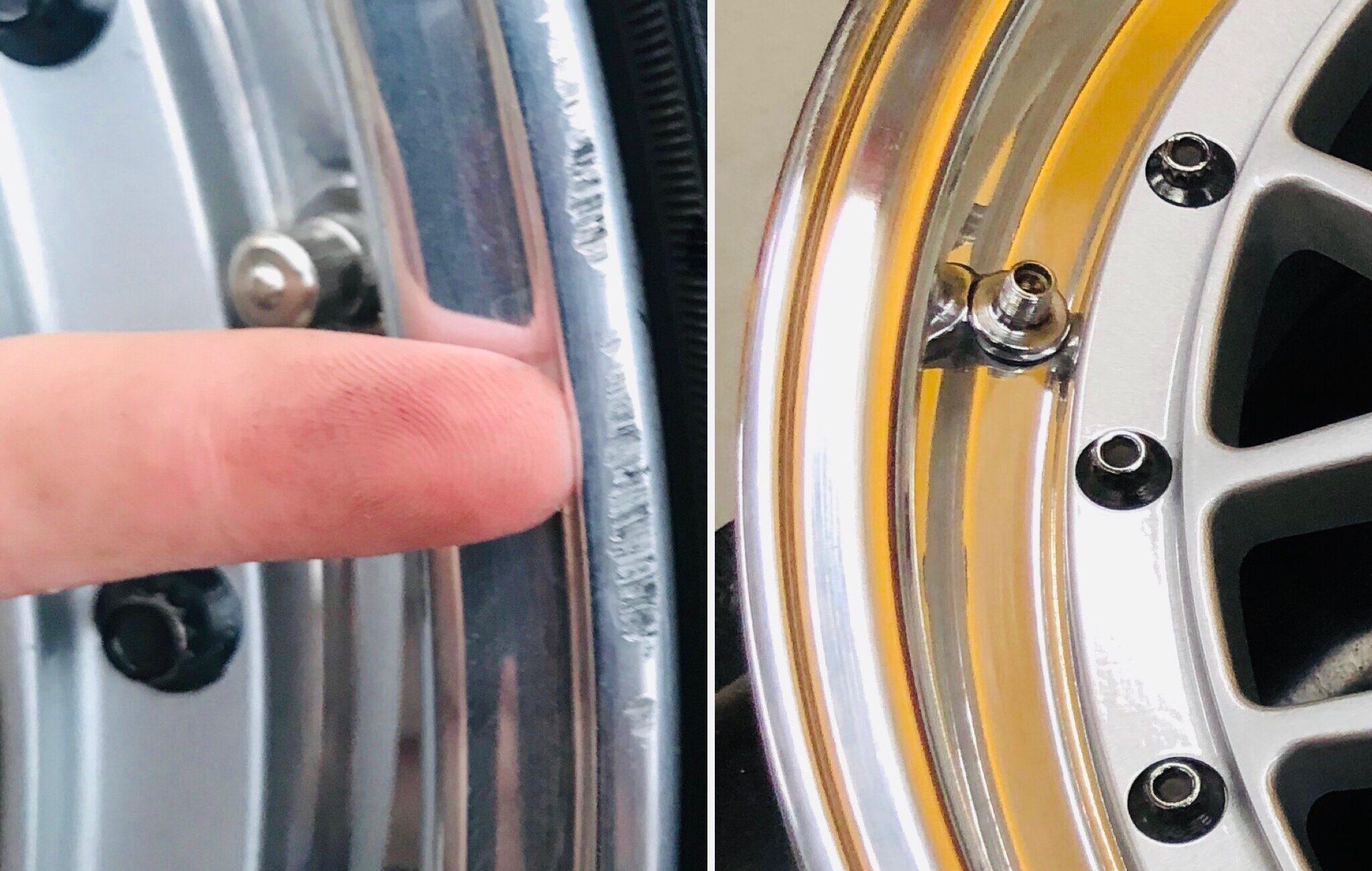 wheel curb rash repair in Santa Clarita, CA