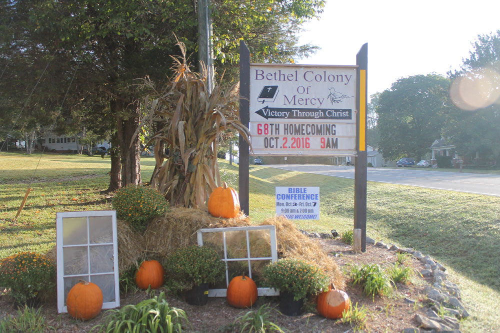 Bethel Colony Homecoming Sign