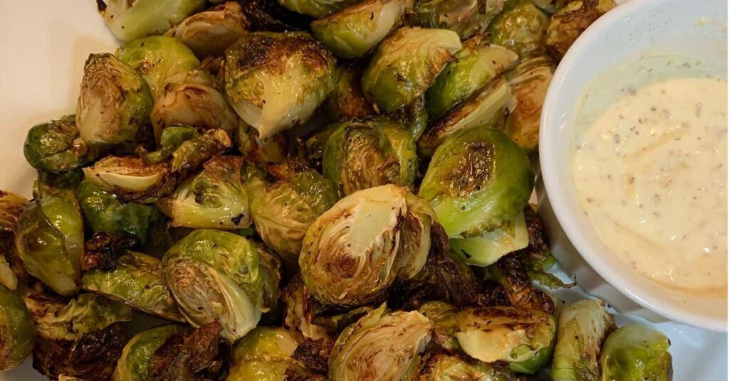 Roasted Brussel Sprouts with Garlic Aioli