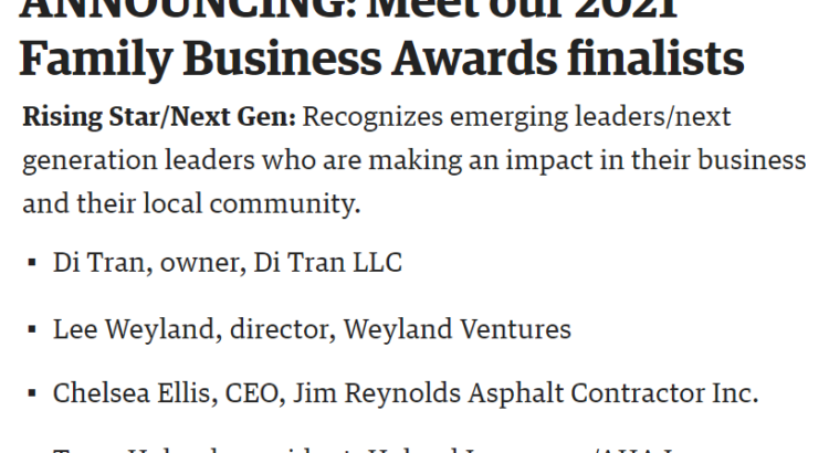 Di Tran - CEO of Di Tran Enterprise - Louisville Business First - Award 2021 - Louisville, KY