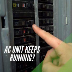 AC Unit Running