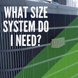 size hvac system