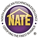 Nate logo showing its connection with emergency air conditioning repair service Charlie's Tropic Heating & Air servicing Jacksonville, FL