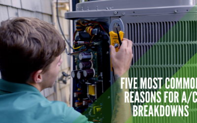 Five Most Common Reasons for A/C Breakdowns