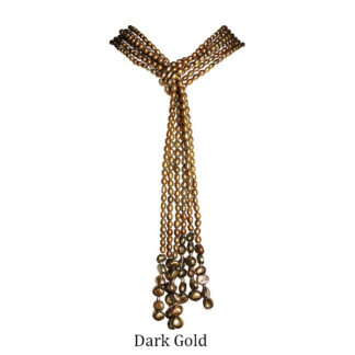 3-Strand-Seed-Pearl-Open-Style-Necklace-Dark-Gold