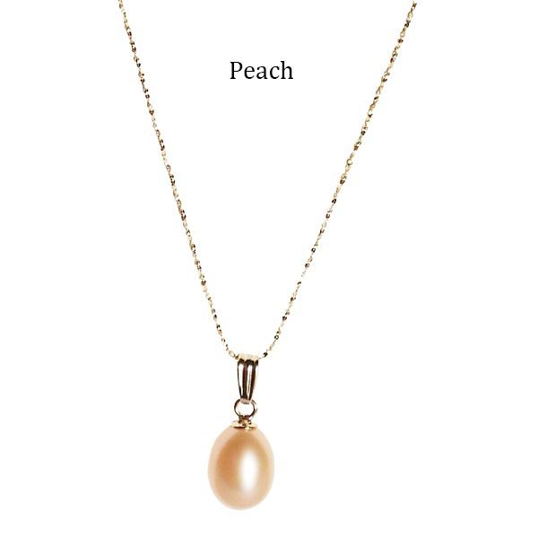 Teardrop-Pearl-on-Gold-Chain-Peach