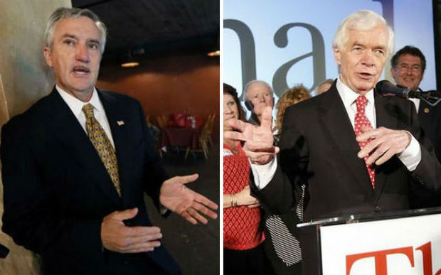 Democrat Travis Childers, left, and Republican Sen. Thad Cochran. (AP photos)