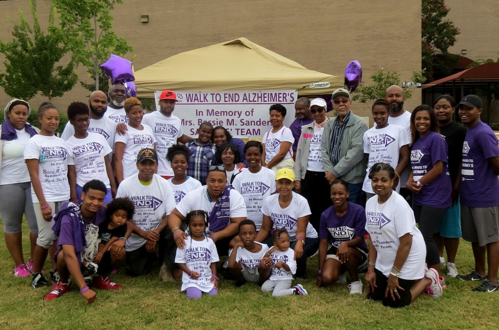 Sanders family members from several states walk to honor the memory of mother Bessie M. Sanders