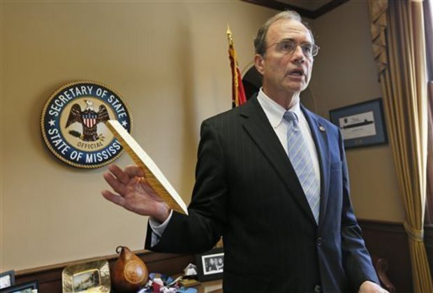 Secretary of State Delbert Hosemann says fewer then 900 voters improperly crossed party lines to vote in the June primary election. (AP Photo/Rogelio V. Solis)